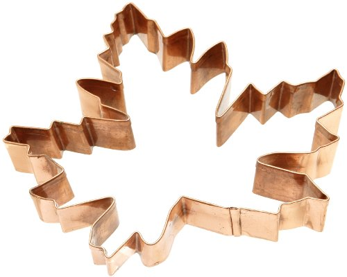 Old River Road Intricate Maple Leaf Shape Cookie Cutter, Copper (Cookie Leaf Cutter Copper)