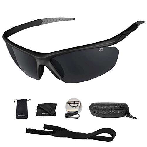 22444cba76 Polarized UV400 Sport Sunglasses Anti-Fog Ideal for Driving or Sports  Activity (Black