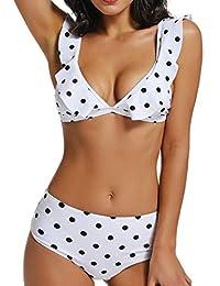 FITTOO Bikini Mujer Push-up con Acolchado Bra Trajes de baño Dos Piezas Color Vario