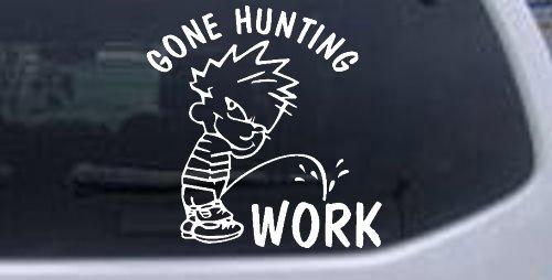 Hunting Fishing Window Laptop Sticker