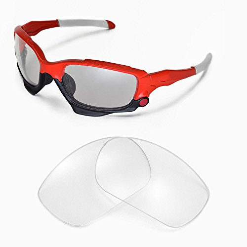 Walleva Replacement Lenses for Oakley Jawbone Sunglasses -Multiple Options Available - Oakley Glasses Clear Lens