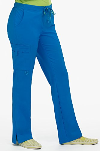 Med Couture Women's 'Activate' Hi-Definition Cargo Scrub Pant, Royal, X-Large