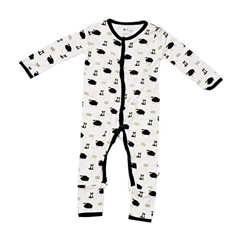 KYTE BABY Rompers - Baby Footless Coveralls Made of Soft Organic Bamboo Rayon Material - 0-24 Months - Printed Color (3-6 Months, Pasture)