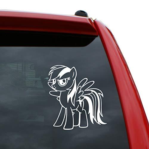 Black Heart Decals & More My Little Pony/Rainbow Dash Vinyl Decal Sticker | Color: White | 5
