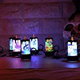 Alian 4Pcs LED Electronic Candle Lamp Halloween Decorative Props Lights Table Decoration with Button Batteries