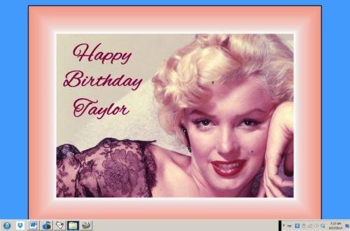 Marilyn Monroe edible cake image birthday decoration cake topper sheet -