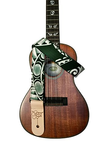 sherrins-threads-15-hawaiian-print-ukulele-strap-green-tapa