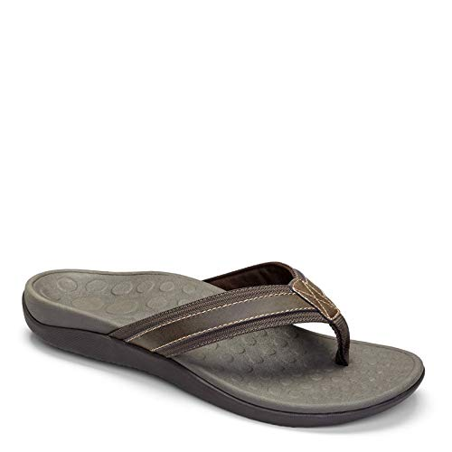 Vionic Men's, Tide Toe Post Sandal Brown 10 M