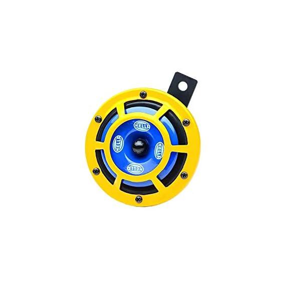 Hella Yellow Panther Horn Set (12V,350/415 Hz,105-118 dB @ 2m)