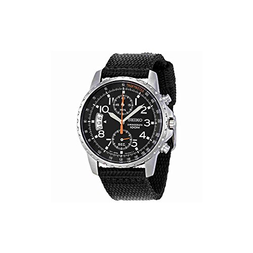 Seiko Tachymeter Watch (Seiko Men's SNN079P2 Chronograph Stainless Steel Watch With Black Cloth Band)