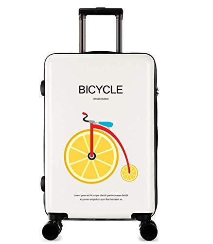 Lishangl 24インチ新しいファッショントロリーケースユニセックススーツケースユニバーサルホイール荷物スーツケース  ホワイト B07QHV71JX