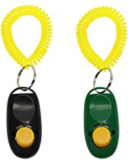 Penta Angel 2 Pieces Pet Training Clicker Big Button Clicker with Wrist Band for Training Dog Cat Horse and Pets