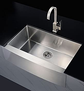 600mm x 508mm belfast sink single bowl stainless steel large kitchen butler sink 2320f - Kitchen Sink Uk