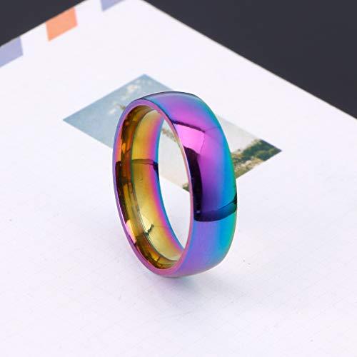 Anillos de Boda Rainbow Rainbow Titanium Gay Lesbian True Love Compromiso Promesa Anillos 20 mm × 22 mm: Amazon.es: Hogar