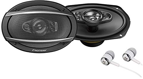 """Pioneer TS-A6990F A Series 6""""X9"""" 700 Watts Max 5-Way Car Speakers Pair with Carbon and Mica Reinforced Injection Molded Polypropylene (IMPP) Cone Construction w/Free ALPHASONIK Earbuds"""