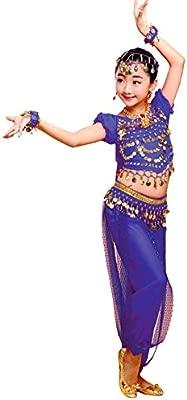 Grouptap Bollywood Indio niña de los niños bharatanatyam Danza del Vientre 2 Piezas Traje Traje de los niños Traje Conjunto