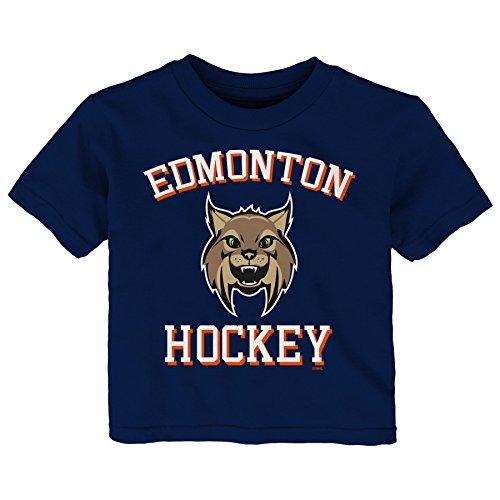NHL Edmonton Oilers Children Unisex Hello Mascot Short Sleeve Tee, 18 Months, Navy ()