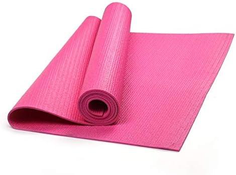 Eco friendly 6mmpvcヨガマットカスタムソリッドカラーのヨガノンスリップヨガマット exercise (色 : Pink)