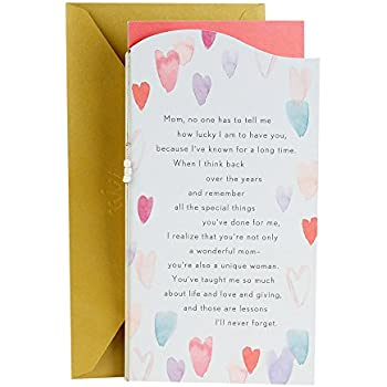 Amazon hallmark valentines day between you and me greeting hallmark valentines day between you and me greeting card for mom watercolor hearts m4hsunfo