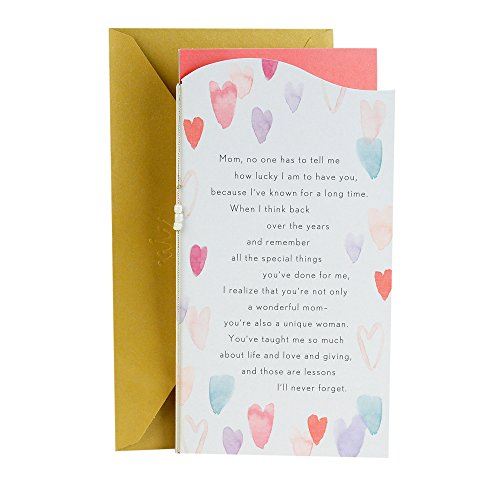 Price comparison product image Hallmark Valentine's Day Greeting Card for Mother (Watercolor Hearts)