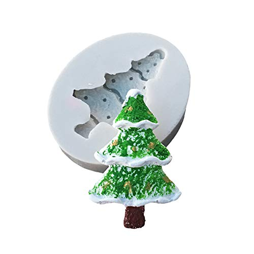 Hot Sale!DEESEE(TM)Silicone Christmas Tree Santa Claus Elk Sled Stick Mold Chocolate Cake Moulds (H) ()