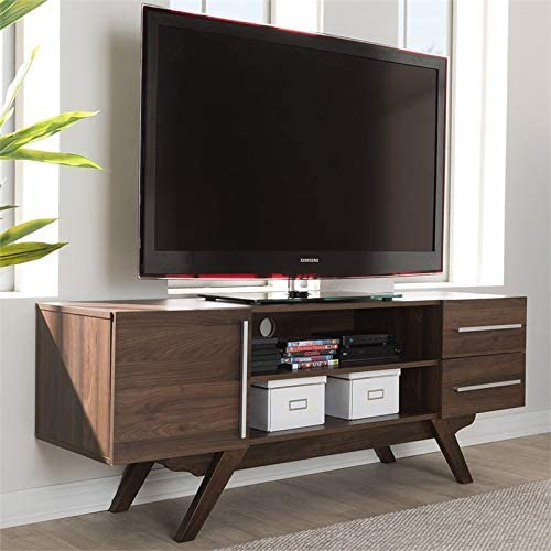 Baxton Studio Ashfield 59 TV Stand in Brown
