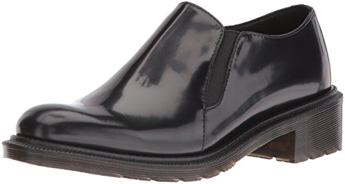 Dr. Martens Women's Rosyna Wax Polished Smooth Slip-On Loafer, Black, 8 UK/10 M US ()