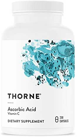 Thorne Research - Ascorbic Acid (One Gram) - Vitamin C Supplement for Antioxidant Support and Healthy Immune Function - 250 Capsules