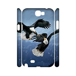 HOPPYS Bald eagle Haliaeetus leucocephalus Phone 3D Case For Samsung Galaxy Note 2 N7100 [Pattern-3]