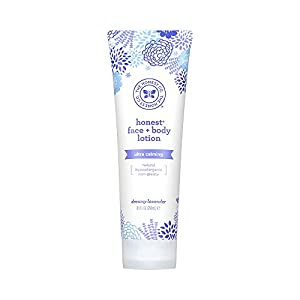 Honest Calming Lavender Hypoallergenic Face And Body Lotion With Naturally Derived Botanicals, Dreamy Lavender, 8.5 Fluid Ounce