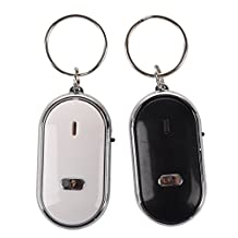 Key Finder - SODIAL(R) 2pcs Whistle Lost Key Finder Flashing Beeping Locator Remote Keychain LED Ring