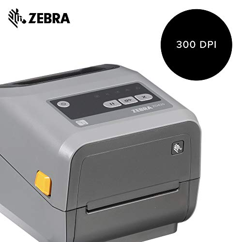 Zebra - ZD420t Thermal Transfer Desktop Printer for Labels and Barcodes - Print Width 4 in - 203 dpi - Interface: USB - ZD42042-T01000EZ by Zebra Technologies (Image #1)