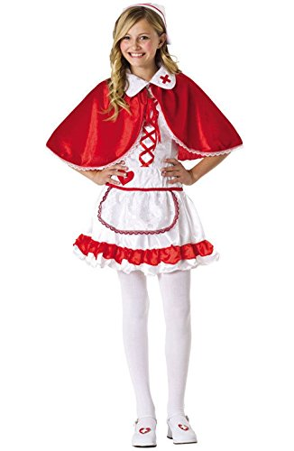 [Mememall Fashion Caped Nurse Doctor Girls Teen Costume] (Nurse Costumes For Teens)