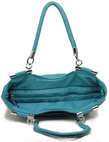 HBM Blue Retro Designer Inspired Tassle Purse
