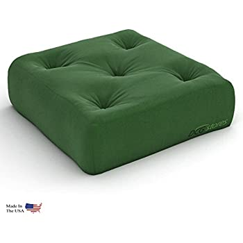 Surprising 6 Inch Comfort Futon Chair Ottoman Mattress Hunter Green Twill Made In Usa Dailytribune Chair Design For Home Dailytribuneorg