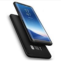Cekuonline Samsung Galaxy S8 Kılıf 360 Derece Ön Arka Korumalı Sert Rubber Siyah Kapak