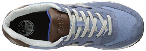 Ny Balans Mens Ml574 Beach Cruiser Pack Klassiska Sneaker Chambray Blå