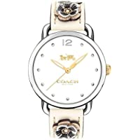 Relógio Coach Feminino Couro Bege - 14503079