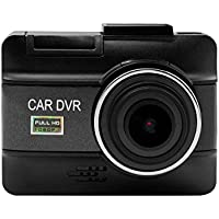 Vmotal Full HD 1080P LCD Car DVR Camera Video Recorder Dash Cam 160° Wide Angle 3 Inch Dashboard Camera Vehicle Recorder with G-Sensor, Night Vision, Parking Guard, Loop Recording