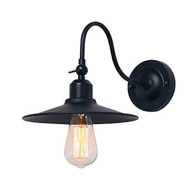 Black Wall Sconce Lighting Gooseneck Mini Adjustable Barn Lights Industrial Vintage Farmhouse Wall Lamp Indoor Bedroom Lights Fixtures