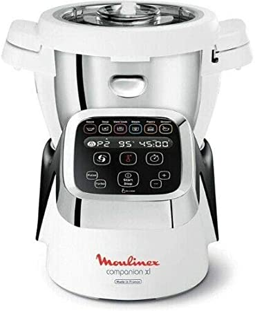 Moulinex HF806E13 Companion XL - Robot de cocina (1550 W), color blanco y plateado: Amazon.es: Hogar