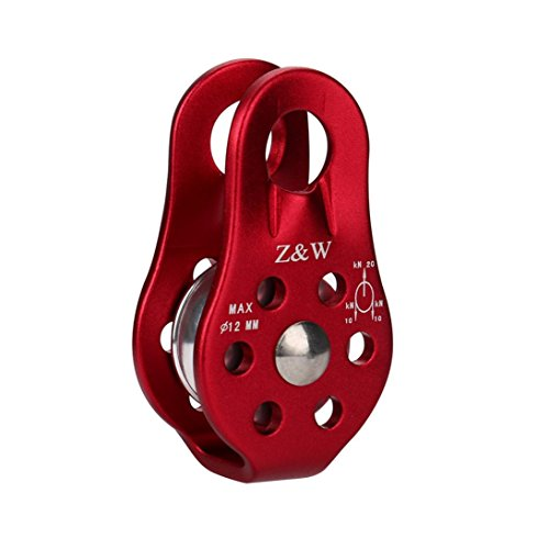 Alloy Sheave (Dreamyth Single Fixed Pulley Mountaineering Rope Climbing Rappelling Survival Equipment Durable (Red))