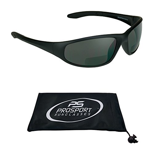 proSPORT Bifocal sunglasses with ANSI Z87 Polycarbonate Safety Smoke Lenses for Men and ()