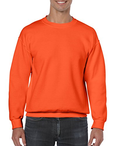 Gildan Men's Heavy Blend Crewneck Sweatshirt - Medium - Orange