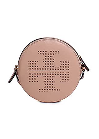 Tory Burch Perforated Logo Crossbody in Sand Dune
