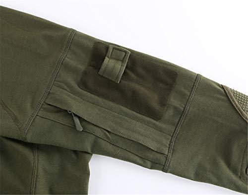 QingCheng Chemise de Combat Homme Camouflage Militaire Tactique Airsoft Tenue T-Shirt Slim Fit à Manches Longues Costume… 4