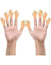 Gobesty Tiny Hands, 10 stuks kleine handen vingerpoppen linker- en rechterhand tovertrucs voor familie vrienden spelletjes party