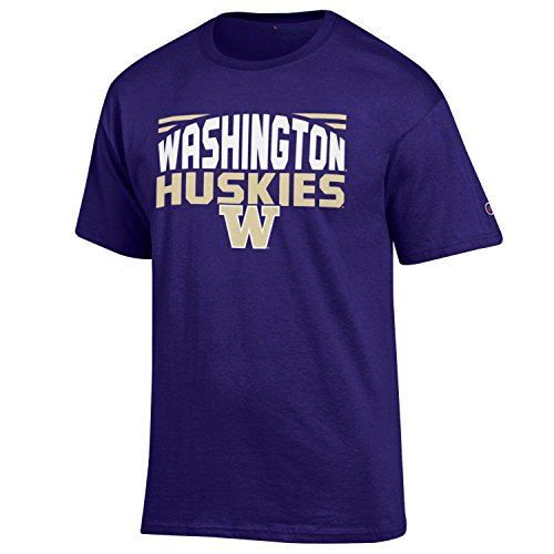 NCAA Champion Men's Push Ahead Short sleeve T-Shirt Washington Huskies ()