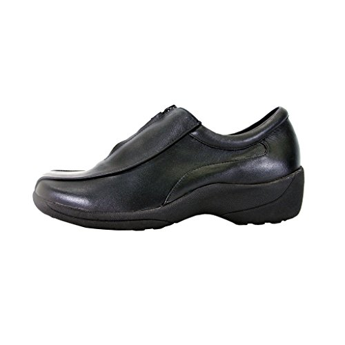 Wide Slip On Shoes Durable 24 Hour Leather Work Width Kathy Black Classic Comfort Women Cushioned wWfvHIq