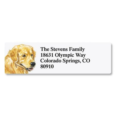 Golden Retriever Pet Portrait Small Return Address Label - Set of 240 2